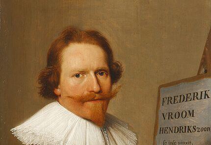 Frederik Hendriksz. Vroom, Selbstbildnis vor der Staffelei, um 1634 ©Hessisches Landesmuseum Darmstadt, Foto: Wolfgang Fuhrmannek