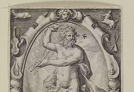 Jacob Matham, Jupiter, 1597, Kupferstich