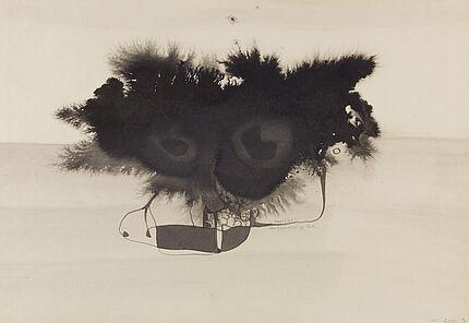 Leo Grewenig, Meertier, 1962, Tuschzeichnung, 395 : 580 mm, Foto: Wolfgang Fuhrmannek, HLMD © Werke - Nachlass Leo Grewenig GbR