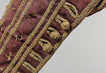 Dunkelrotes Wams (Detail), vermutlich Köln, um 1610-1620 ©Hessisches Landesmuseum Darmstadt, Foto: Wolfgang Fuhrmannek