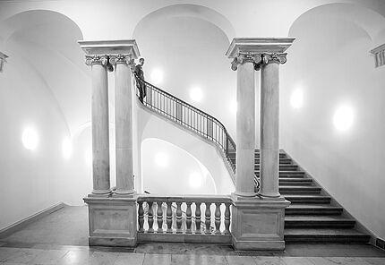 Blick ins Treppenhaus im Ostturm, Foto: peterfg