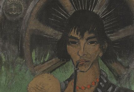 Otto Mueller, Zigeunermadonna, um 1927