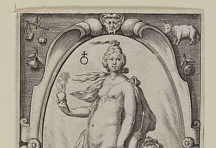 Jacob Matham, Venus, 1597, Kupferstich