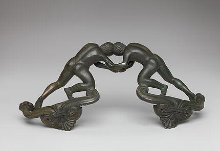 """Borsdorfer Henkel"", Griff eines Bronzebeckens, Nidda-Borsdorf, Wetteraukreis, um 400 v. Chr."