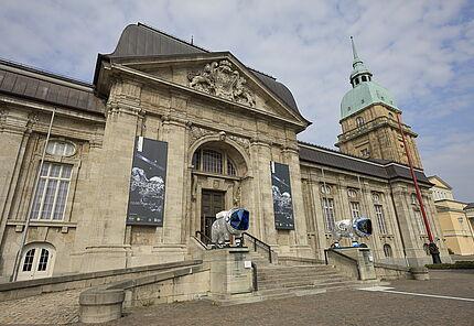 Astrolöwen zur Ausstellung »Rosetta–Europas Kometenjäger«, Foto: W. Fuhrmannek