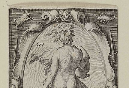 Jacob Matham, Mars, 1597, Kupferstich