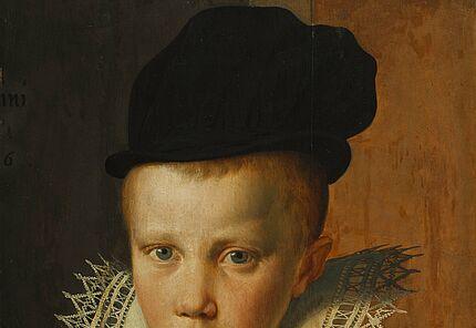 Pieter Pietersz. (Umkreis), Antwerpen 1540–1603 Amsterdam, Bildnis eines sechsjährigen Knaben, 1590/1600 ©Hessisches Landesmuseum Darmstadt, Foto: Wolfgang Fuhrmannek
