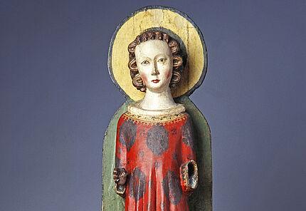 Hl. Thomas als Diakon, Norddeutschland, um 1300, Linden- und Nadelholz