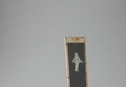 Laterna magica mit Glasbild, Deutschland, 2. Hälfte 18. Jahrhundert Hersteller Johann Christian Wolfgang Rose (?) ©Hessisches Landesmuseum Darmstadt, Foto: Wolfgang Fuhrmannek
