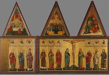 Großer Friedberger Altar, Meister des Großen Friedberger Altars, Werkstatt am Mittelrhein, vmtl. in Mainz, 1370-80, Foto: Wolfgang Fuhrmannek