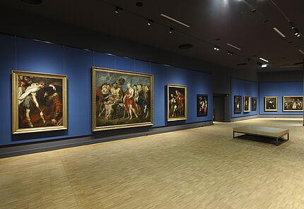 Raumansicht mit Peter Paul Rubens, Dianas Heimkehr von der Jagd, um 1623