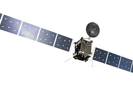 Rosetta Artist's impression of the Rosetta orbiter, on a transparent background. © ESA/ATG medialab