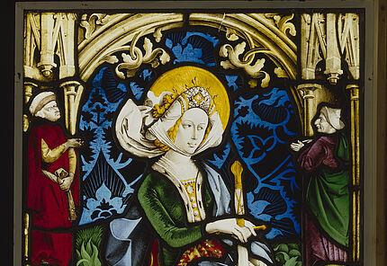 Peter Hemmel von Andlau, Heilige Katharina, Straßburg, um 1480, Glasmalerei