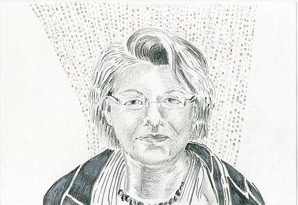 Christine u. Irene Hohenbüchler, Aus der Serie ...denk mal an..., 2016, Bleistift und Buntstift auf Papier © VG Bild-Kunst Bonn 2017