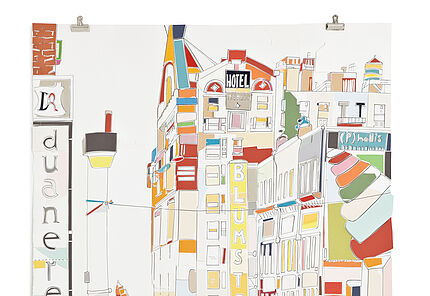 Marion Eichmann, NEW YORK (Blumstein), 2014, Pigmenttusche, Besitz der Künstlerin