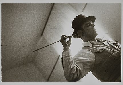 Joseph Beuys, Hauptstrom FLUXUS, Darmstadt, 1967, Foto: Camillo Fischer