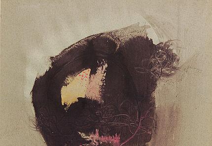 Leo Grewenig, Baum im Odenwald, 1963, Tuschzeichnung, 588 : 405 mm, Foto: Wolfgang Fuhrmannek, HLMD © Werke - Nachlass Leo Grewenig GbR