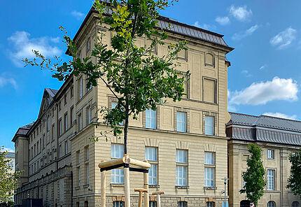Eichenpflanzung zu Ehren von Joseph Beuys am Hessischen Landesmuseum Darmstadt, Foto: Anne-Sophie Ebert, HLMD