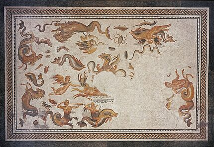 Mosaikboden, Bad Vilbel, Wetteraukreis, Ende 2./Anfang 3. Jh. n. Chr. 7,05 m x 4,75 m