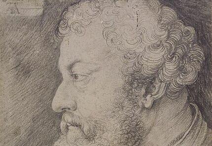 Albrecht Dürer, Profilbildnis des Raimund Fugger, 1525, Schwarze Kreide