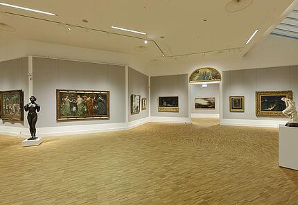 Raumansicht  Gemäldegalerie 19. Jahrhundert