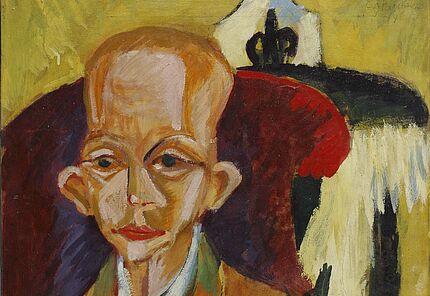 Ernst Ludwig Kirchner, Porträt Oskar Schlemmer, 1914