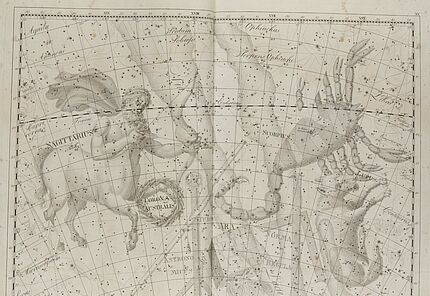 Johann Elert Bode, Sternenatlas Uranographia, 1801, Tafel XV., Kupferstich