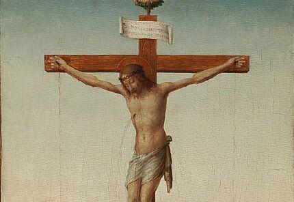 Francesco Granacci (1469 – 1543), Christus am Kreuz mit Heiligen, Florenz, 16. Jh., Foto: Wolfgang Fuhrmannek