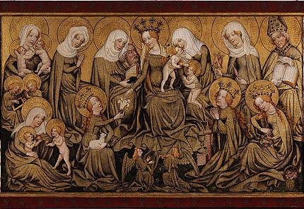 Meister des Ortenberger Altars, Der Ortenberger Altar, Mittelrhein, um 1430, Tannenholz