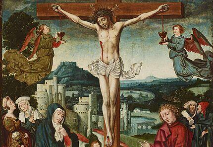 Bartholomäus Bruyn d. Ä. (1493 – 1555), Kreuzigung Christi, Köln, um 1520, Foto: Wolfgang Fuhrmannek, HLMD