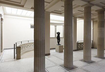 Raumansicht Säulenumgang des Bad Vilbeler Mosaiks