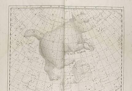 Johann Elert Bode, Sternenatlas Uranographia, 1801, Tafel VI., Kupferstich