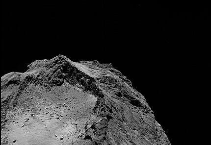 Comet on 13 February 2016 – OSIRIS narrow-angle camera OSIRIS narrow-angle camera image taken on 13 February 2016, when Rosetta was 45.8 km from Comet 67P/Churyumov–Gerasimenko.  © ESA/Rosetta/MPS for OSIRIS Team MPS/UPD/LAM/IAA/SSO/INTA/UPM/DASP/IDA