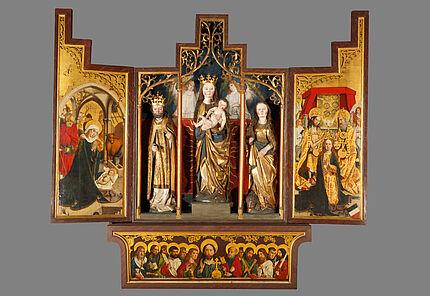 Wolfskehler Altar, Meister des Wolfskehler Altars, tätig vermutlich in Worms zwischen 1490-1505, um 1490/1500, Foto: Wolfgang Fuhrmannek