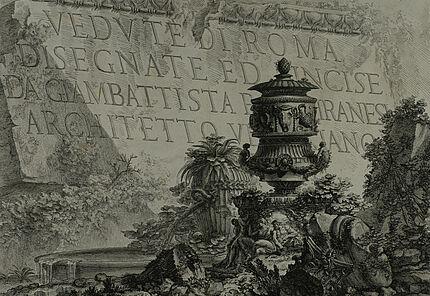10. Giovanni Battista Piranesi, Vedute die Roma_Titelblatt, Kupferstichradierung, 1748, Foto ULB