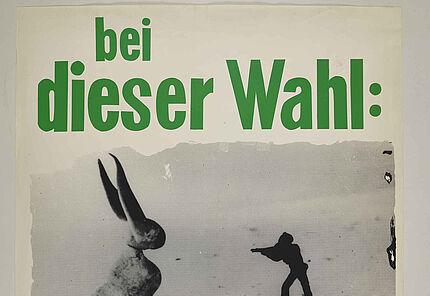 Joseph Beuys bei dieser Wahl: die Grünen, Darstellung: Beuys »Der Unbesiegbare«, 1979 © Hessisches Landesmuseum Darmstadt, VG Bild-Kunst, Bonn, 2020