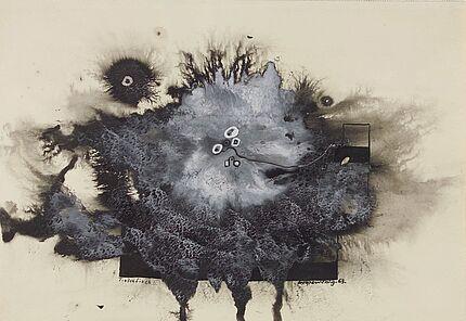 Leo Grewenig, Tintenfisch 2, 1963, Tuschzeichnung, 395 : 545 mm, Foto: Wolfgang Fuhrmannek, HLMD © Werke - Nachlass Leo Grewenig GbR