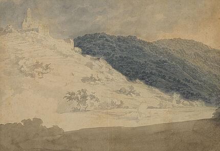 Carl Philipp Fohr, Hornberg am Meckar, 1815-1818,Aquarell mit Tusche und Bleistift, Foto: Wolfgang Fuhrmannek, HLMD