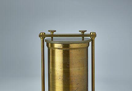 Kontrollnormal für Flüssigkeiten, aus dem Eichgewichtssatz von Hector Rößler, 1818, Foto: Wolfgang Fuhrmannek, HLMD