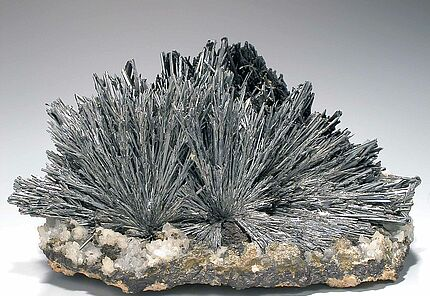 Antimonit, Baia Sprie, Maramures, Rumänien, HLMD-RP-37, Foto: W. Fuhrmannek